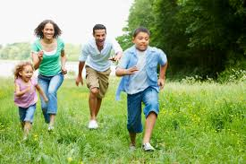 family outdoor activities. Young Family Running And Having Fun In The Country Outdoor Activities Y