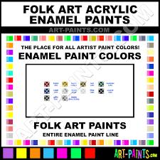 Folk Art Paint Chart Folk Art Acrylic Enamel Paint Colors Folk Art Acrylic