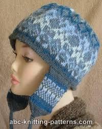 Earflap Hat Knitting Pattern Stunning ABC Knitting Patterns Fair Isle Earflap Hat