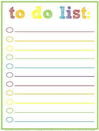 Cute Contact List Template Free Printable To Do Lists Cute Colorful Templates To