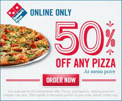 dominos 50 off any pizza when you order 3 17 3 23