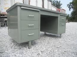 vintage metal office furniture. Desk FREE SHIPPING Vintage Metallic Green Metal Tanker Office Steelcase Mid Century Modern Idustrial By TheIndustrialist On Etsy Furniture R