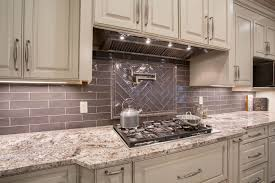 Tile Backsplashes With Granite Countertops New White Torroncino Granite Countertop With Subway Tile Backsplash