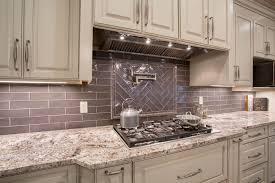 Tile Backsplashes With Granite Countertops New White Torroncino Granite Countertop With Subway Tile Backsplash