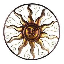 25 in steel bronze sun decorative wall art