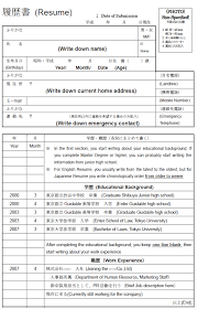 Japanese Resume Here Is How To Properly Write It Guidable