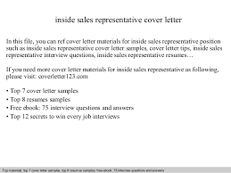 inside sales representative cover letter in this file you can ref cover letter materials for cover letter for sales rep