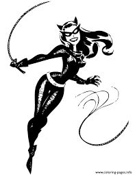 Small Picture catwoman from batman cartoon Coloring pages Printable