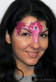 pinkie pie my little pony face painting design