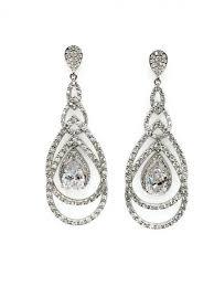 teardrop chandelier style earrings