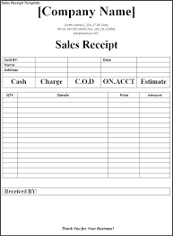 Sales Receipt Template Best Word Templates How To Make Receipts