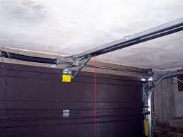 image of low headroom garage door track