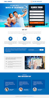 Page Design Templates Effective Travel Agency Service Template Buy Landing Pages