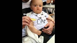 Baby tasting a lemon for the first time Piper Harper xxx YouTube