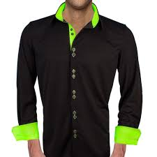 Neon Designer Dress Amazon Com Black With Neon Green Dress Shirts Made In The