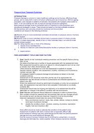 pressure ulcer treatment guidelines