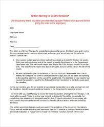 second warning letter templates