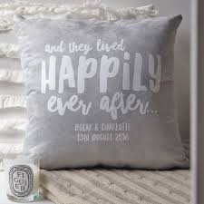 happily ever after cushion couples cushion personalised cushion wedding gift gift for