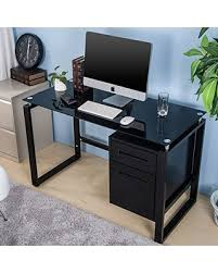 Home office computer workstation Design Merax Home Office Computer Desk Table Workstation With Metal Cabinet And Glass Top black Better Homes And Gardens Big Deal On Merax Home Office Computer Desk Table Workstation With
