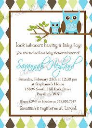 Owl Baby Shower Invitation Baby Boy Custom PrintableOwl Baby Shower Invitations For Boy