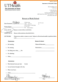 Medical Office Note Template Doctors Excuse Note For Work Doctor Office Templates Medical Forms