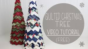Quilted Christmas Tree Tutorial (No Sew)   Fabric Tree - YouTube &  Adamdwight.com