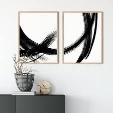 modern art prints brush stroke art