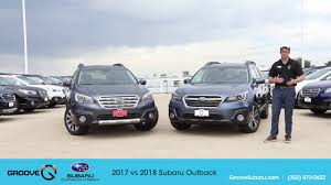 2018 subaru outback review. perfect 2018 2017 vs 2018 subaru outback whatu0027s the difference on subaru outback review