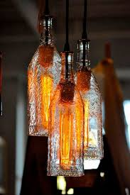 Glass Bottle Lamps This Diy Upcycled Hanging Chandelier Is Among The Best Way To Use