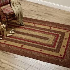 cinnamon star braided jute rect rug 27 x48