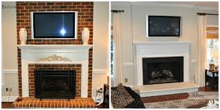 painted brick fireplace before after paint the brick the same color as the wall