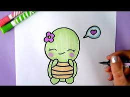 Small Picture HOW TO DRAW A SWEET AND CUTE TURTLE EASY CUTE DRAWING OF ANIMALS