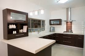 Luxury Kitchen Furniture Simple Modern Luxury Kitchen Ideas With U Shaped Dark Brown