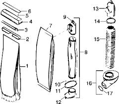 kirby heritage ii repair parts diagrams partswarehouse p620a