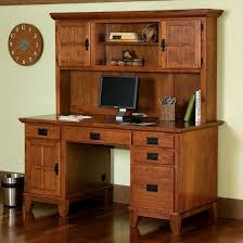 mission craftsman oak computer desk hutch view images