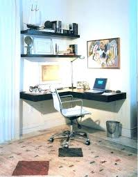 office floating shelves. Cool Wall Shelves Office Floating Home Contemporary With Small Desk  Alcove