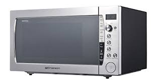 emerson er105006 2 2 cu ft 1200 w counter top microwave oven with inverter technology sensor cooking silver