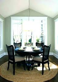 interior area rug under round dining table awesome nice photographs home rugs ideas room inside