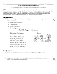 Students will illustrate balanced chemical equations in this learning activity for middle school, high school, or what is the role of chemistry in life? 33 Classification Of Chemical Reactions Worksheet Answers Chemistry If8766 Worksheet Resource Plans