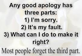 Life Quotes Any Good Apology Three Parts Real True Quotes Real Quotes Simple Reality Life Quotes