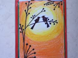 beautiful drawing for children in simple steps oil pastel shading you