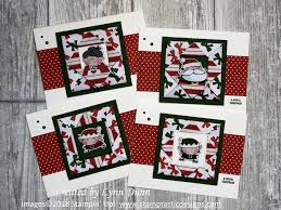 Fun Fold Christmas Cards Santas Workshop Lynn Dunn