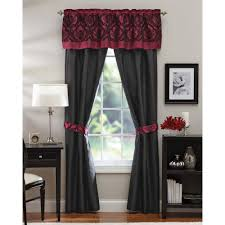 appealing dark red curtains and charming laminate floor curtain rods and bathroom rods