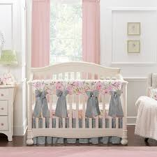 blush watercolor fl crib 8 pc
