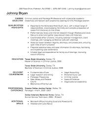 Paralegal Resume Objective Berathen Com