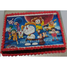 Doremon Face Cake Photocakes Online In Delhi Noida Midnight