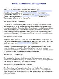Commercial Lease Agreement In Word Free Florida Commercial Lease Agreement PDF Word Doc 10