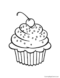 Small Picture Cupcake 01 Coloring Page Coloring Page Central
