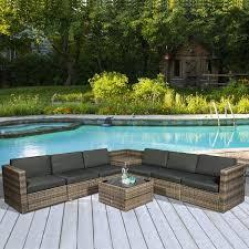 rattan garden furniture patio sofa