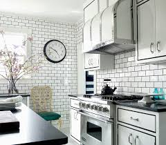 Image White Make Contrast With Subway Tiles Homedit Dress Your Kitchen In Style With Some White Subway Tiles